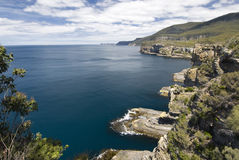 Coastline of Tasman National Park, Tasmania, Australia Stock Image