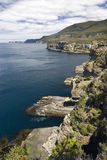 Coastline of Tasman National Park, Tasmania, Australia Royalty Free Stock Images