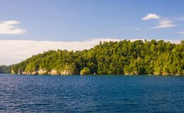 Coastline in the Togian archipelago Stock Image