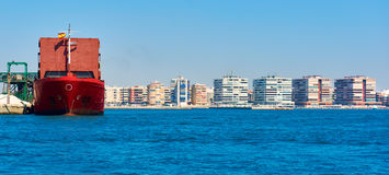 Coastline of Torrevieja and seaport. Stock Photos