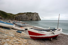 The coastline of Étretat. Royalty Free Stock Photography