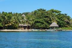 Coastline tropical resort Caribbean sea Panama Royalty Free Stock Photography