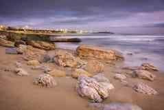 Coastline at twilight Royalty Free Stock Photos
