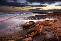 Coastline at twilight royalty free stock photo