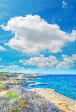 Coastline under clouds Royalty Free Stock Images