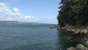 The coastline of Varna. Bulgaria. 4K. stock video footage
