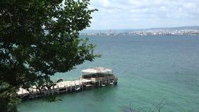 The coastline of Varna. Bulgaria. 4K. stock footage
