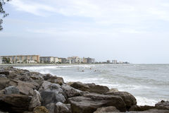 Coastline of Venice Florida. Coast line of Venice Florida taken from the nearby Jetty Stock Image