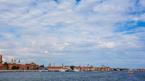 Coastline of venice. Coastline in venice with many historical buildings Royalty Free Stock Photo