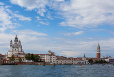 Coastline of venice. Coastline in venice with many historical buildings Stock Photos