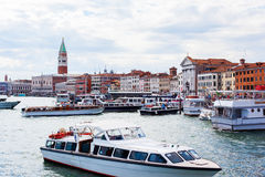 Coastline of venice. Coastline in venice with many historical buildings Royalty Free Stock Images
