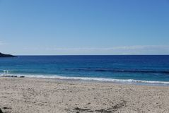 Coastline view Mollymook stock image