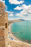 Coastline view. From the ruins of old castle in Crimea Stock Photography