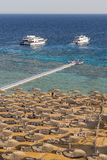 Coastline View of Sharm El-Sheikh Beach, Red Sea, Sinai, Egypt, Under Sunlight stock photos