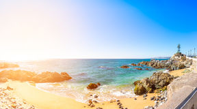 Coastline in Vina del Mar, Chile. Panoramic view of the coastline in Vina del Mar, Chile Stock Photo