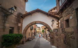 Coastline Vistas:  Exploring Inner villages inside Barcelona. Stock Image