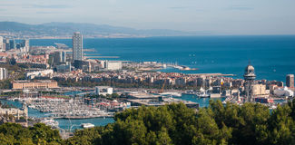 Coastline Vistas:  Exploring the Scenic city of  Barcelona. Stock Photography