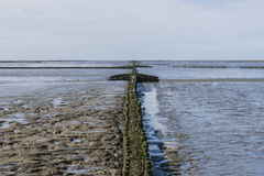 Coastline of Waddensea Stock Images