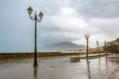 Coastline and waterfront in Trapani, Sicily Royalty Free Stock Photo