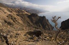Coastline from Yemen to Oman Stock Images