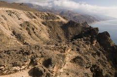 Coastline from Yemen to Oman Royalty Free Stock Photography