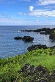 The coastlines of Maui, Hawaii on the road to Hana stock photos
