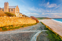 Coastpath at Loe Bar Stock Images