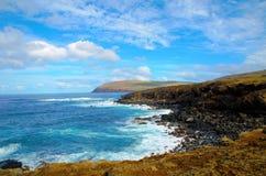 Coasts around Easter Island stock images