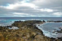 Coasts around Easter Island stock photo