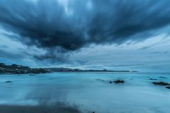 The coasts and beaches of Galicia and Asturias. Evening and night on the coasts and beaches of Galicia and Asturias where you discover the beauty of nature royalty free stock image