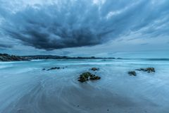 The coasts and beaches of Galicia and Asturias. Evening and night on the coasts and beaches of Galicia and Asturias where you discover the beauty of nature stock photos