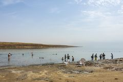 The Dead Sea and its healing mud. Israel stock image