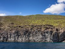 Volcanic rock and sea. Pantelleria, Sicily, Italy royalty free stock photo