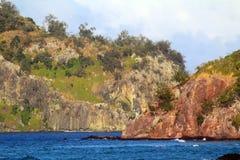 The coasts of a tropical island, Fiji. The coasts of the islands of Monu and Monuriki, Mamanuca Islands, Fiji stock photos