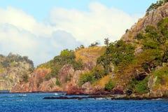 The coasts of a tropical island, Fiji. The coasts of the islands of Monu and Monuriki, Mamanuca Islands, Fiji stock image