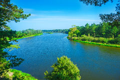 Coasts of river Royalty Free Stock Images