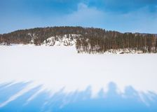 Coasts of Saimaa lake in winter. Winter. Landscape of Finland royalty free stock photos