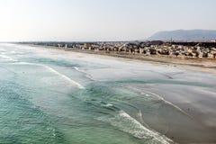 Coastside视图Taqah高原城市塞拉莱Dhofar苏丹王国阿曼18 库存照片