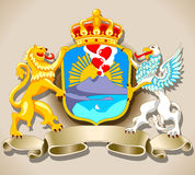 Coat of Arm of Naples Stock Photo