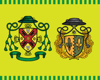 Coat of arms. Isolated on green background. Additional vector format Illustrator 8 eps Stock Photo