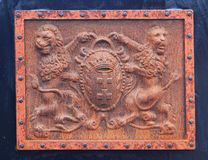 Coat of arms. Old rusty coat of arms Royalty Free Stock Photography