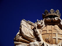 Coat of Arms. Of silent city of Mdina Royalty Free Stock Photo