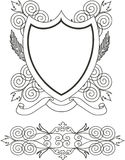 Coat of arms. Vector illustracion Royalty Free Stock Photos