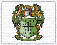 Coat of arms. Additional file format Illustrator 8 eps Royalty Free Stock Photo
