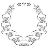 Coat of arms. (stars and ribbon emblem Stock Photography