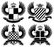 Coat of arms. Isolated on white background Royalty Free Stock Image