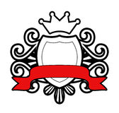 Coat of Arms. With Banner Vector Illustration
