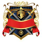 Coat of arms. Isolated in vibrant colors stock illustration