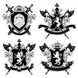 Coat of arms. Isolated on white background Royalty Free Stock Photos