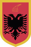 Coat of arms. Vector illustration of Albania's coat of arms isolated on white Stock Images